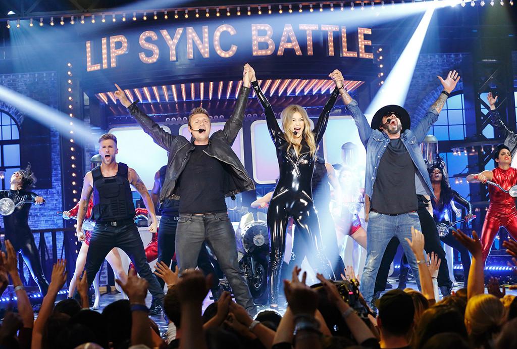 Lip Sync Battle, Gigi Hadid, Nick Carter, A.J. McLean