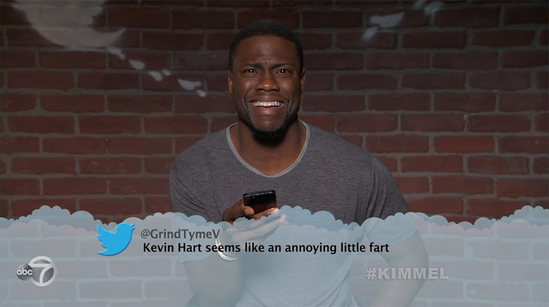 Kevin Hart From Celebrity Mean Tweets From Jimmy Kimmel Live E News Uk