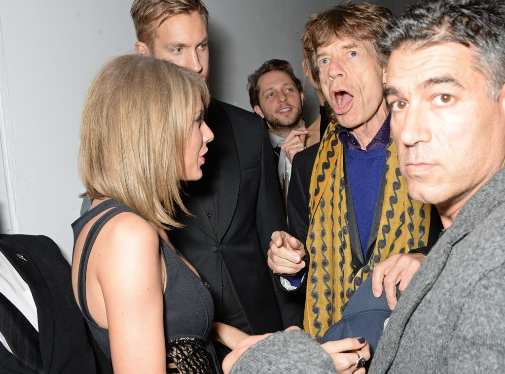 Taylor Swift, Calvin Harris,Sir Mick Jagger