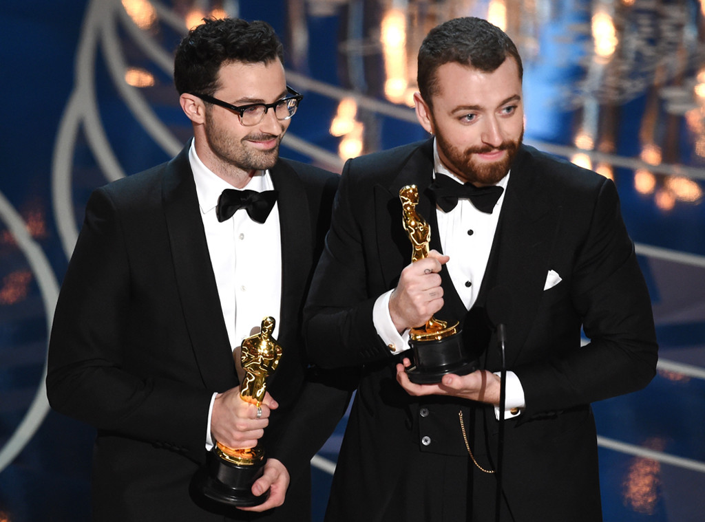Jimmy Napes, Sam Smith, 2016 Oscars, Academy Awards, Winner