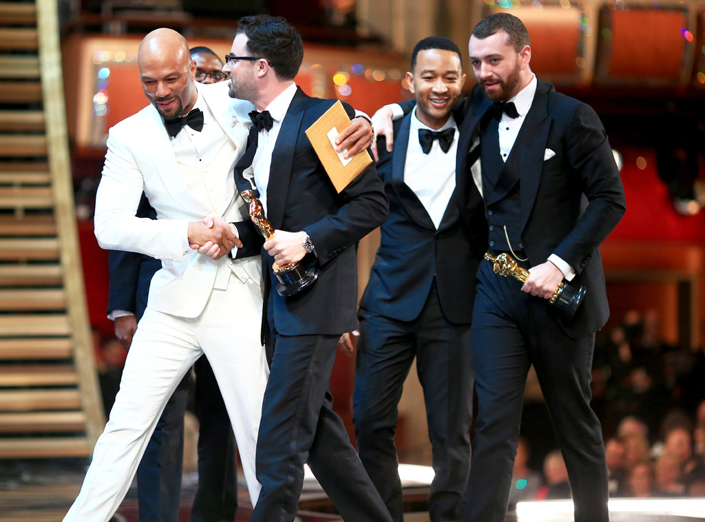 2016 Oscars, Academy Awards, Common, Jimmy Napes, John Legend, Sam Smith, Candids