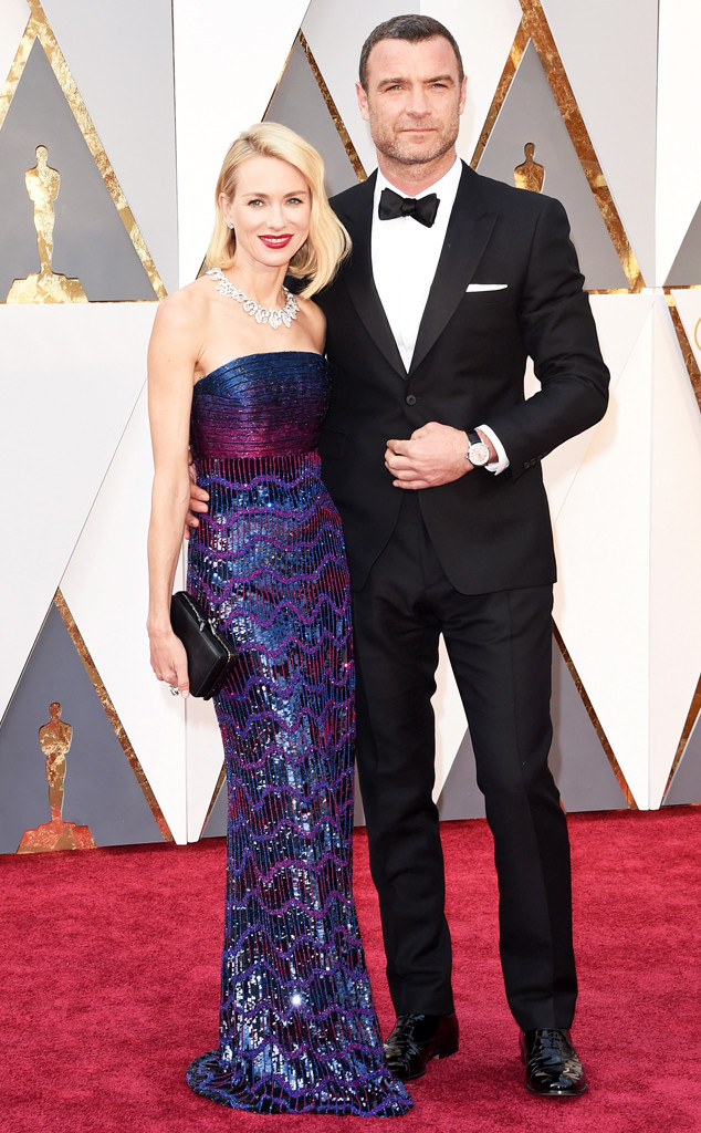 2016 Oscars, Academy Awards, Arrivals, Naomi Watts, Liev Schreiber, Oscars Couples