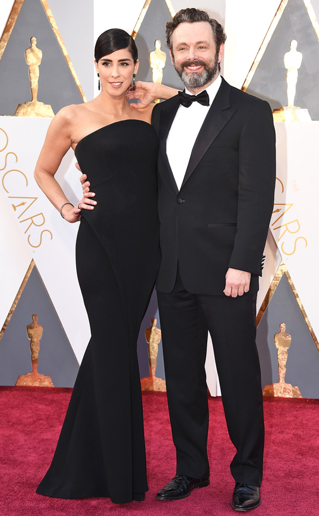 2016 Oscars, Academy Awards, Arrivals, Sarah Silverman, Michael Sheen, Couples