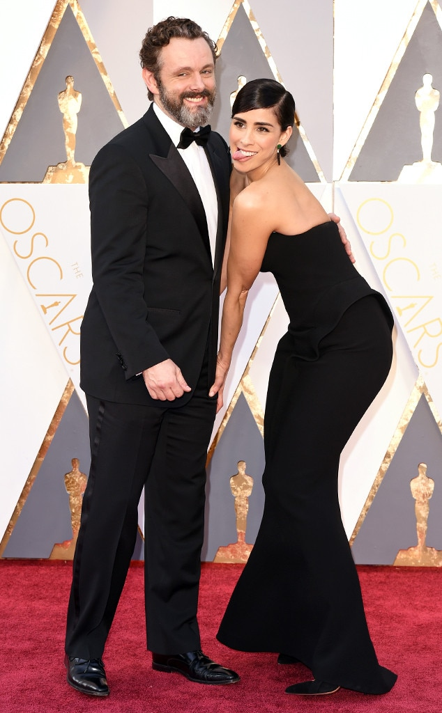 2016 Oscars, Academy Awards, Arrivals, Sarah Silverman, Michael Sheen, Candids