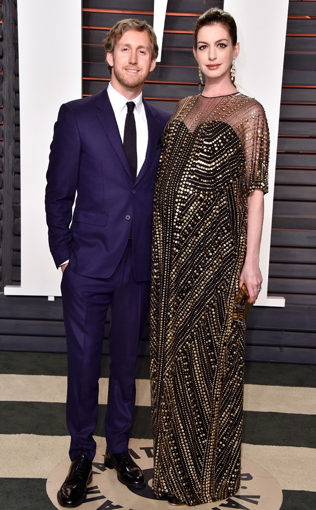 Vanity Fair Oscars Party, Adam Shulman, Anne Hathaway