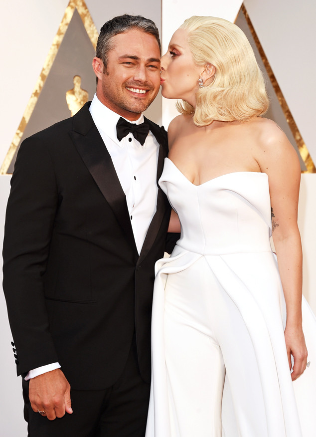 2016 Oscars Academy Awards Arrivals Taylor Kinney Lady Gaga Candids