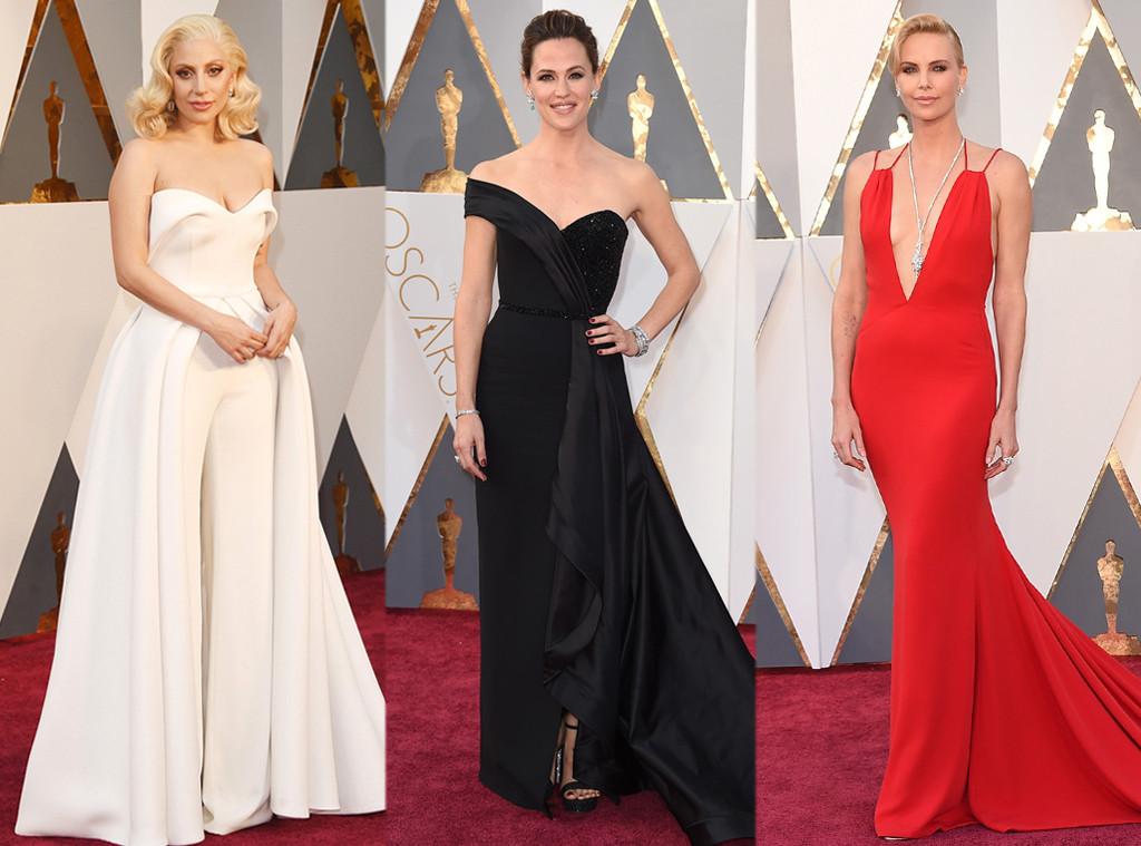 Lady Gaga, Jennifer Garner, Charlize Theron, 2016 Oscars, Academy Awards, Arrivals