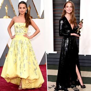 2016 Oscars vs Vanity Fair, Alicia Vikander