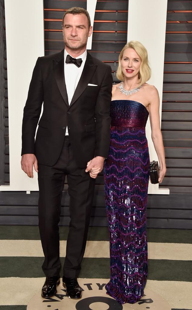 Liev Schreiber, Naomi Watts, Vanity Fair Oscars Party