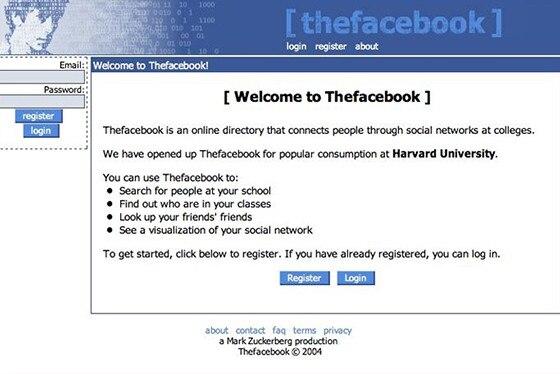 Facebook login homepages