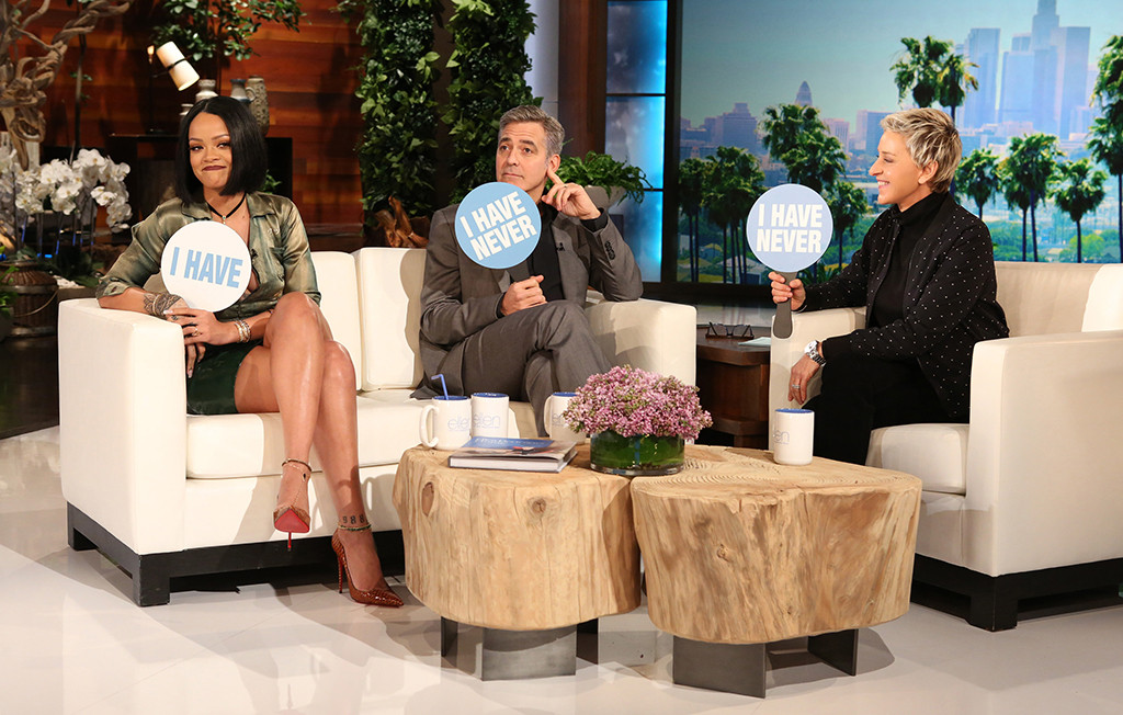 Rihanna, George Clooney, Ellen DeGeneres