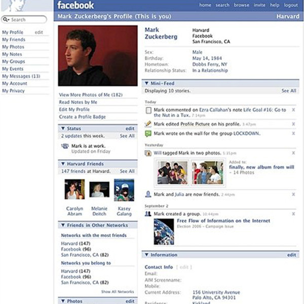this is how facebook has changed over the past 12 years e news. Black Bedroom Furniture Sets. Home Design Ideas