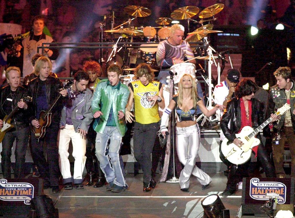 NSYNC, Aerosmith, Britney Spears, Superbowl