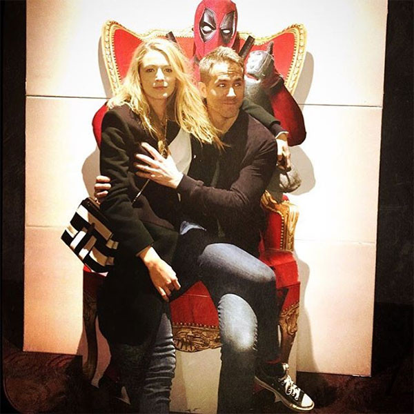 Blake Lively, Ryan Reynolds, Deadpool Throne, PdA