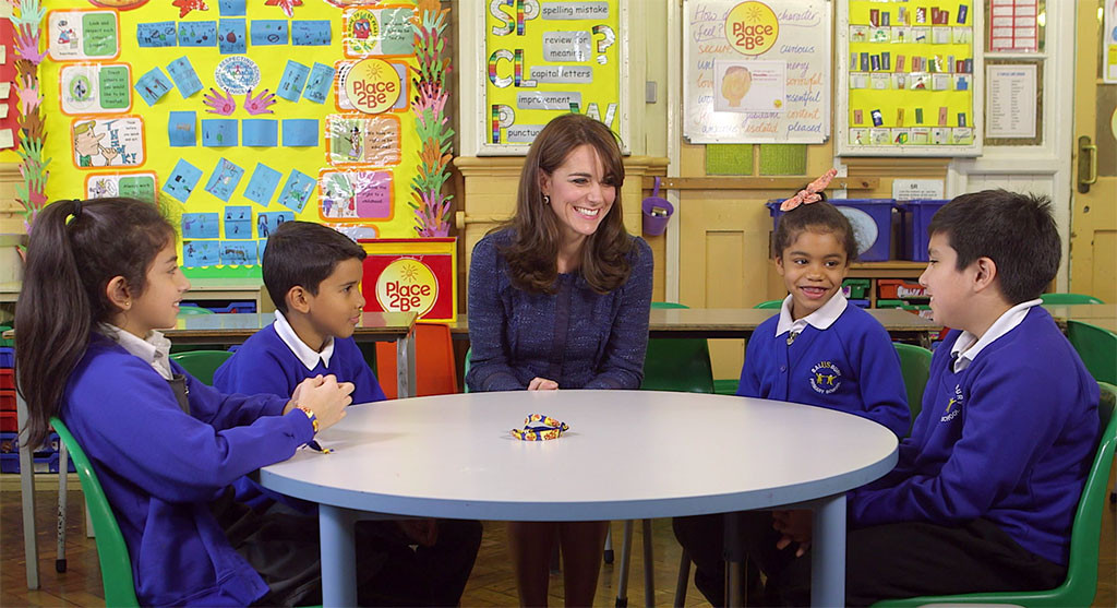 Kate Middleton, Kids, Place2Be Childrens Mental Health Week 2016 Video
