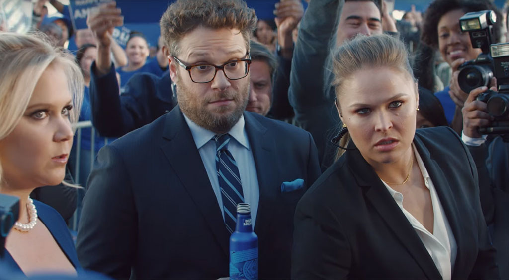 Ronda Rousey, Amy Schumer, Seth Rogen, Bud Light Ad