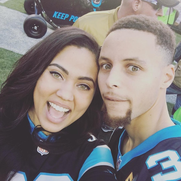ayesha curry  u0026 stephen curry from celebs at super bowl