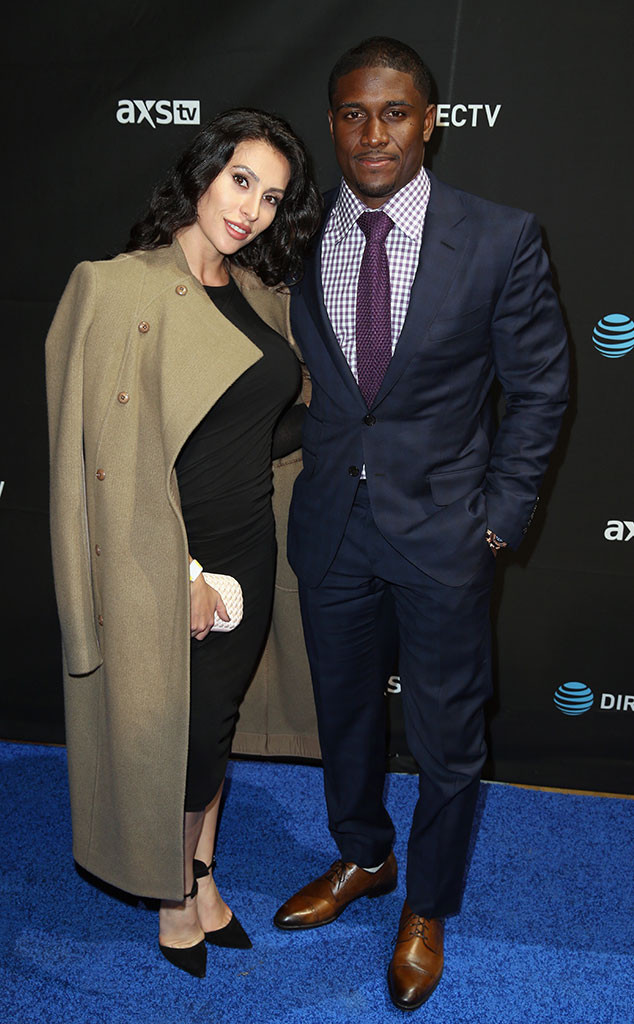 Lilit Avagyan, Reggie Bush, Pre-Super Bowl 50 Party