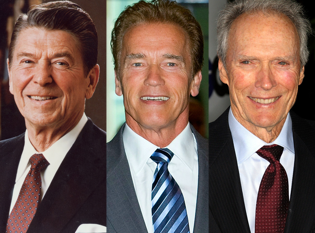 Ronald Reagan, Arnold Schwarzenegger, Clint Eastwood