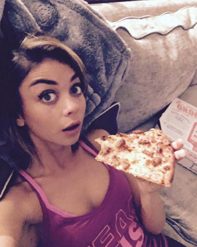 Sarah Hyland, Pizza, Instagram