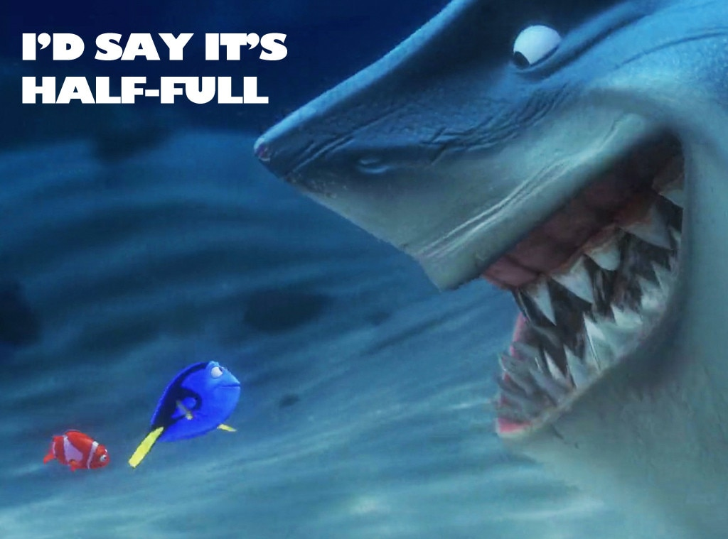 Glass Half Full From Finding Nemo Motivational Posters E News