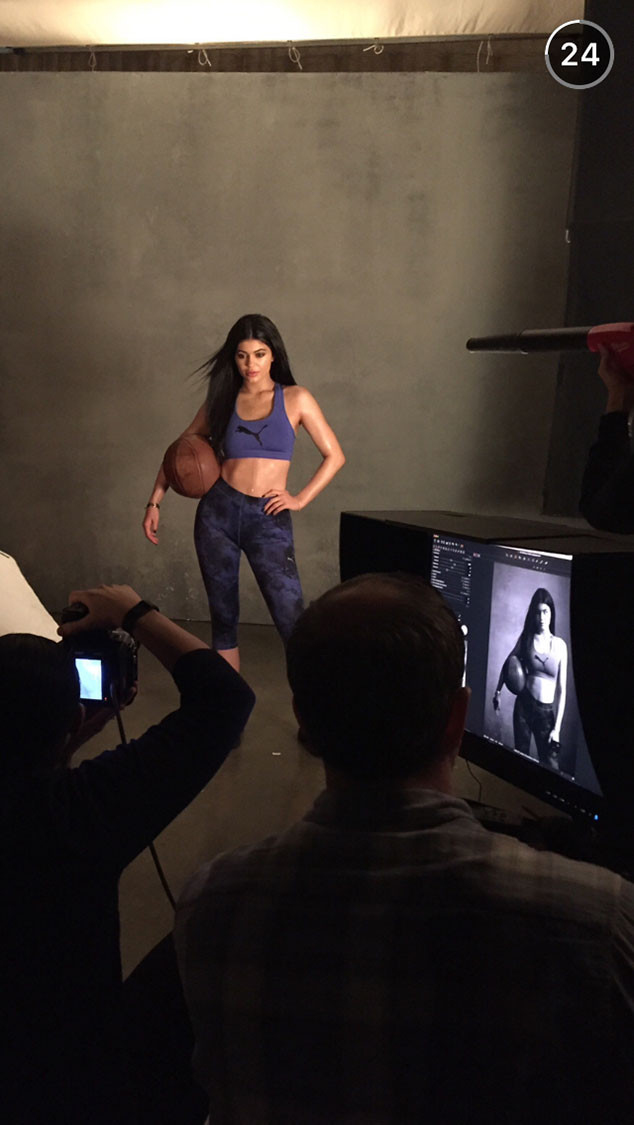 Kylie Jenner, PUMA, Snapchat