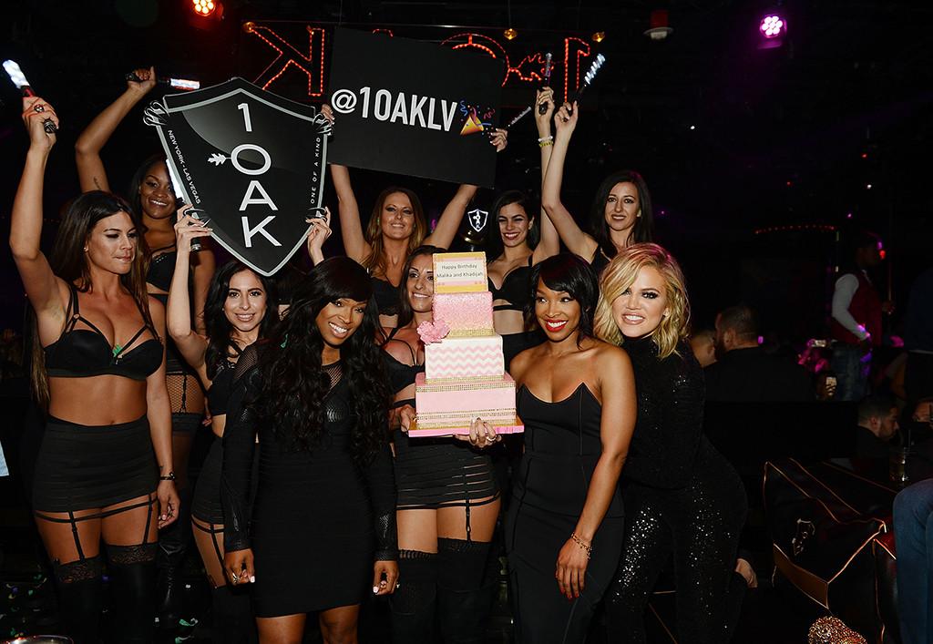 Khloe Kardashian, Malika Haqq, Khadijah Haqq, Birthday Party, 1OAK