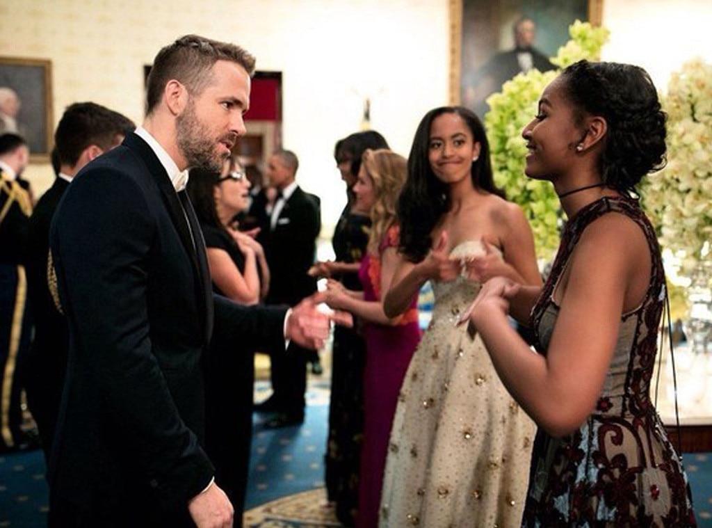 Sasha Obama, Ryan Reynolds, Malia Obama