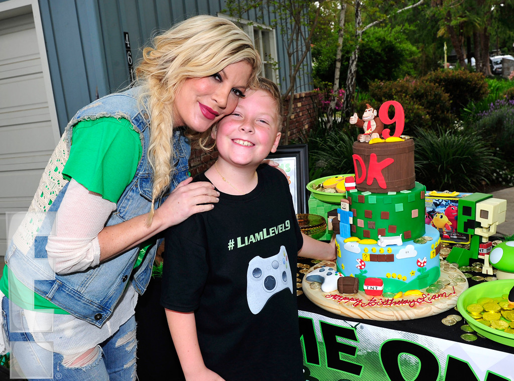 Tori Spelling, Liam McDermott Birthday