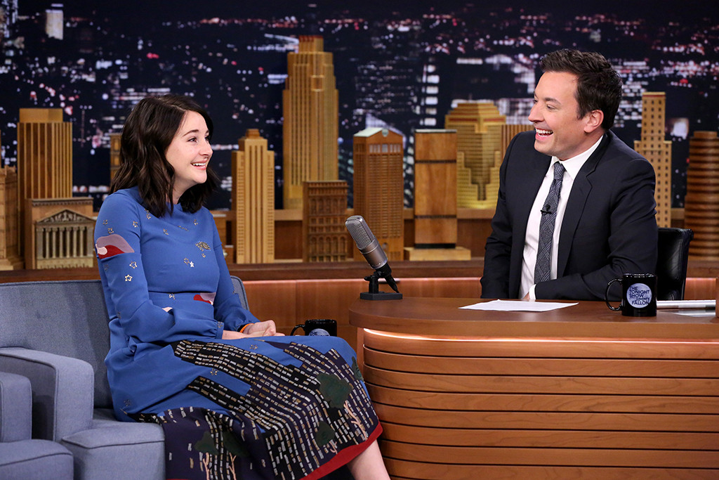 Shailene Woodley, Jimmy Fallon, The Tonight Show