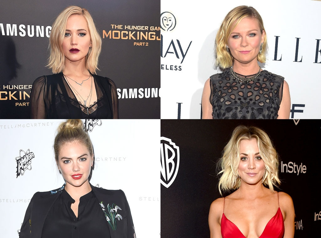 Jennifer Lawrence, Kirsten Dunst, Kate Upton, Kaley Cuoco