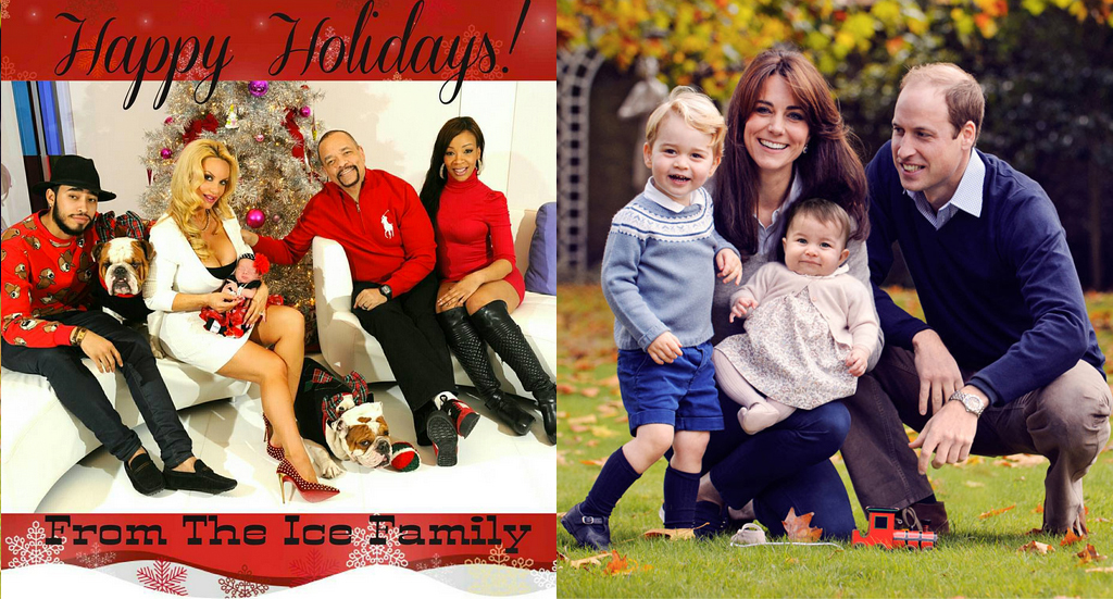 Kate Middleton, Prince William, Prince George, Princess Charlotte, Christmas Card, Coco, Ice T, Chanel