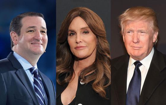 Ted Cruz, Caitlyn Jenner, Donald Trump