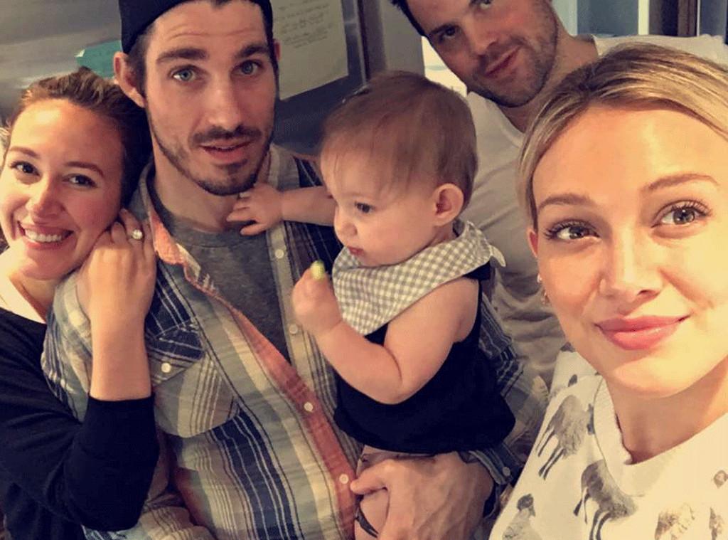 Hilary Duff, Mike Comrie, Haylie Duff