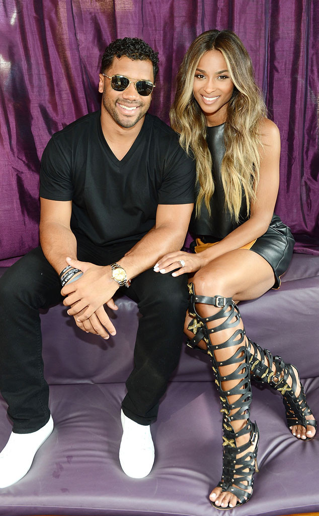 39c8e33f1ce0 Ciara Flashes Ring as She   Russell Wilson Make First Public Appearance as  Engaged Couple