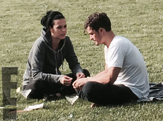 Katy Perry, Orlando Bloom, Kiss, Exclusive