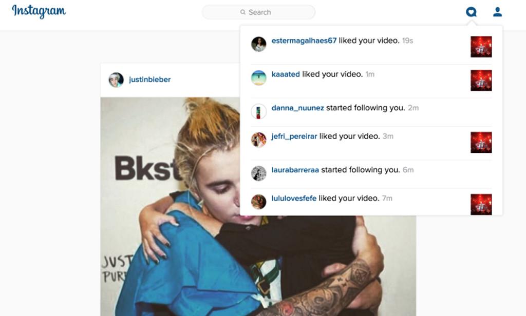 Instagram Dropdown