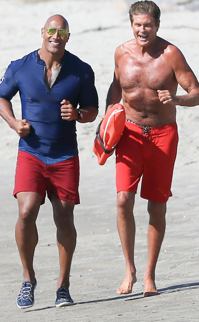 46c127e7e7 David Hasselhoff Films Baywatch Movie With Dwayne The Rock Johnson ...