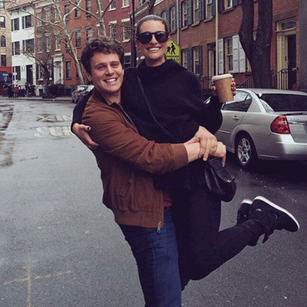 Lea Michele, Jonathan Groff, Instagram