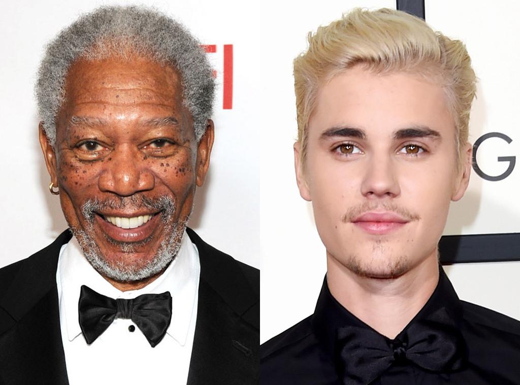 Morgan Freeman, Justin Bieber