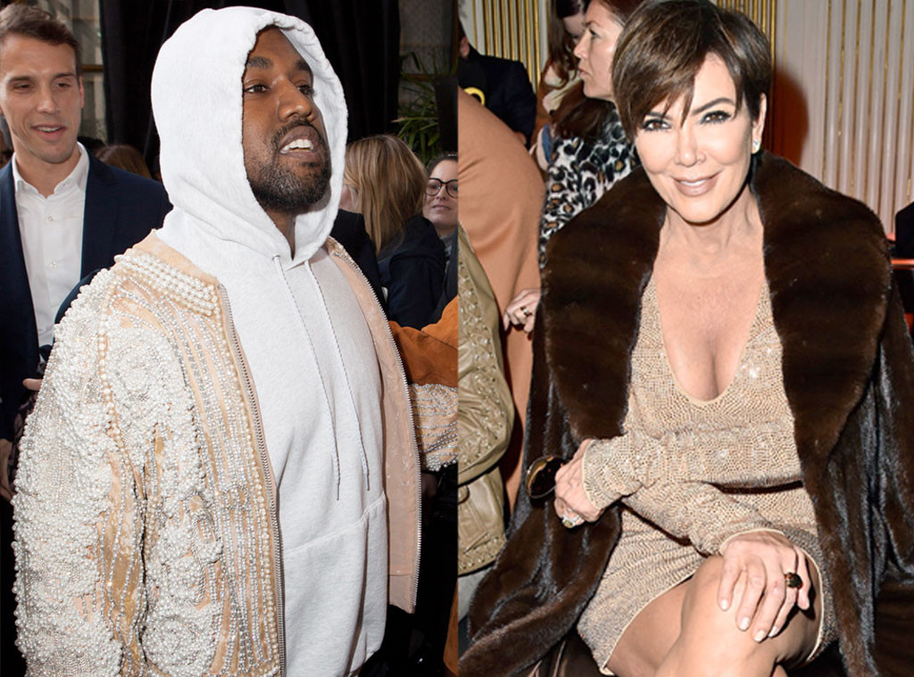 Kanye West, Kris Jenner Paris Fashion Week Star Sightings