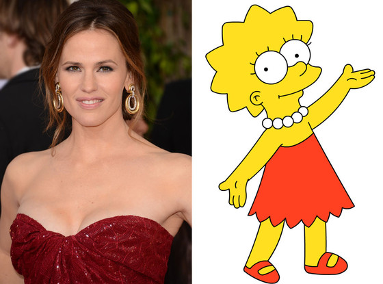 Jennifer Garner, Lisa Simpson