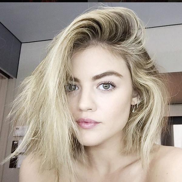 Lucy Hale, Blonde, Instagram