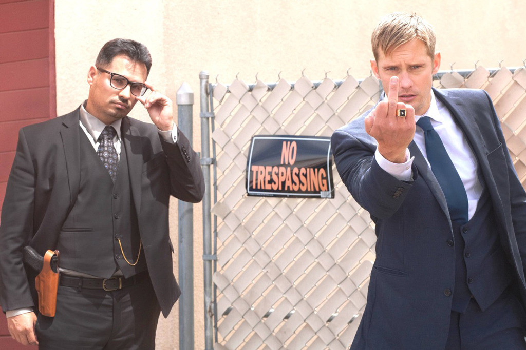 War on Everyone, Michael Pena, Alexander Skarsgard