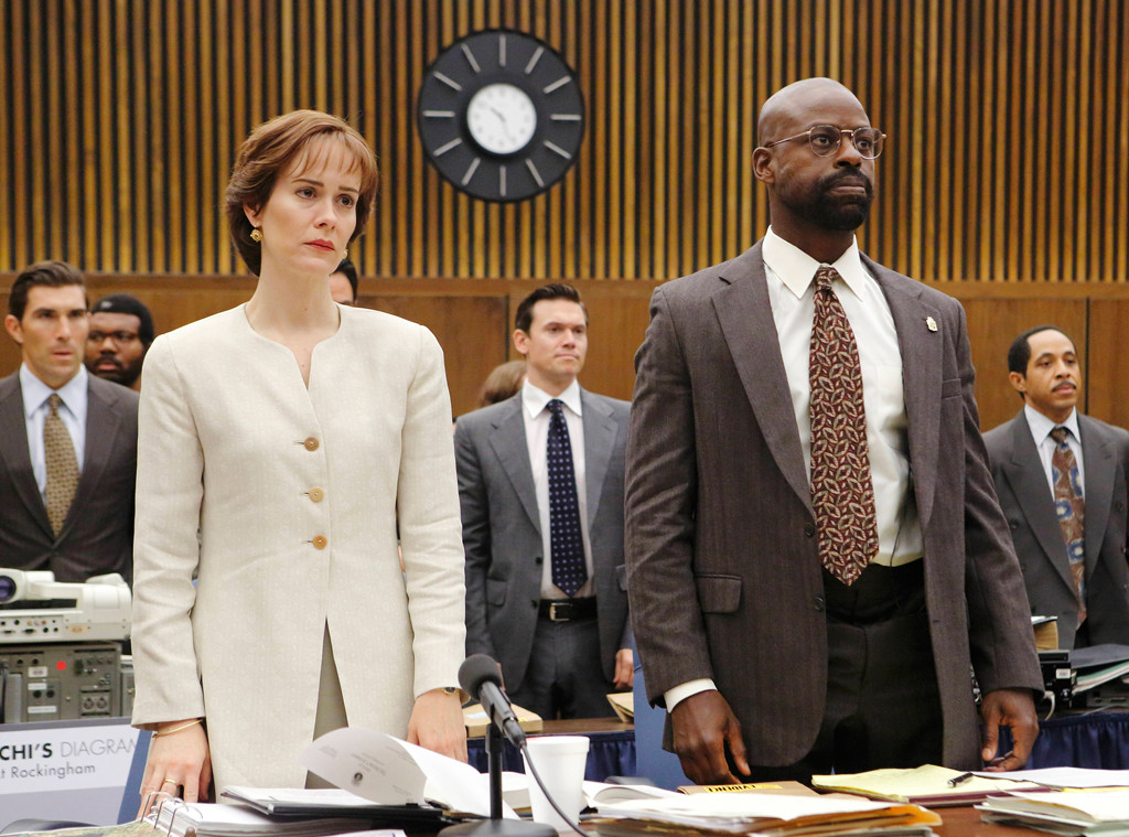 Marcia Clark, Sarah Paulson, Sterling K. Brown, The People v. O.J. Simpson
