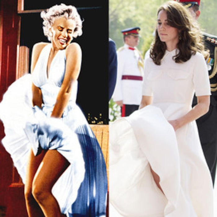 460bfc4dc6 Kate Middleton Channels Marilyn Monroe s Windy Dress Moment in India ...