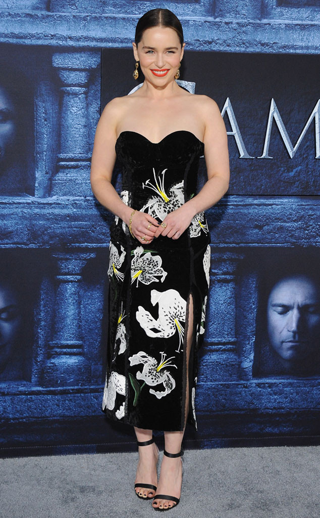 Emilia Clarke, Game of Thrones Season 6 Premiere