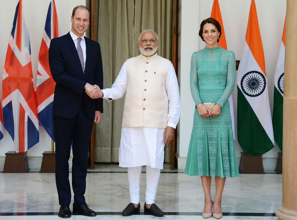 Prince William, Prime Minister Narendra Modi, Kate Middleton