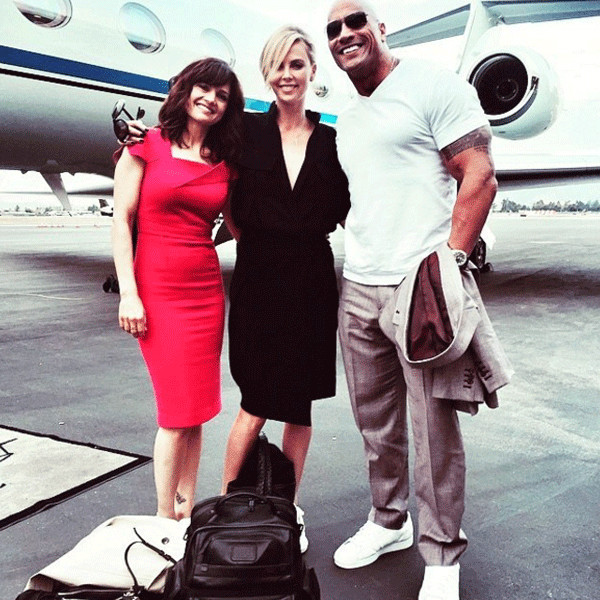 Dynamics 13 By Michelle Gibson: Dwayne The Rock Johnson Officially Welcomes Charlize