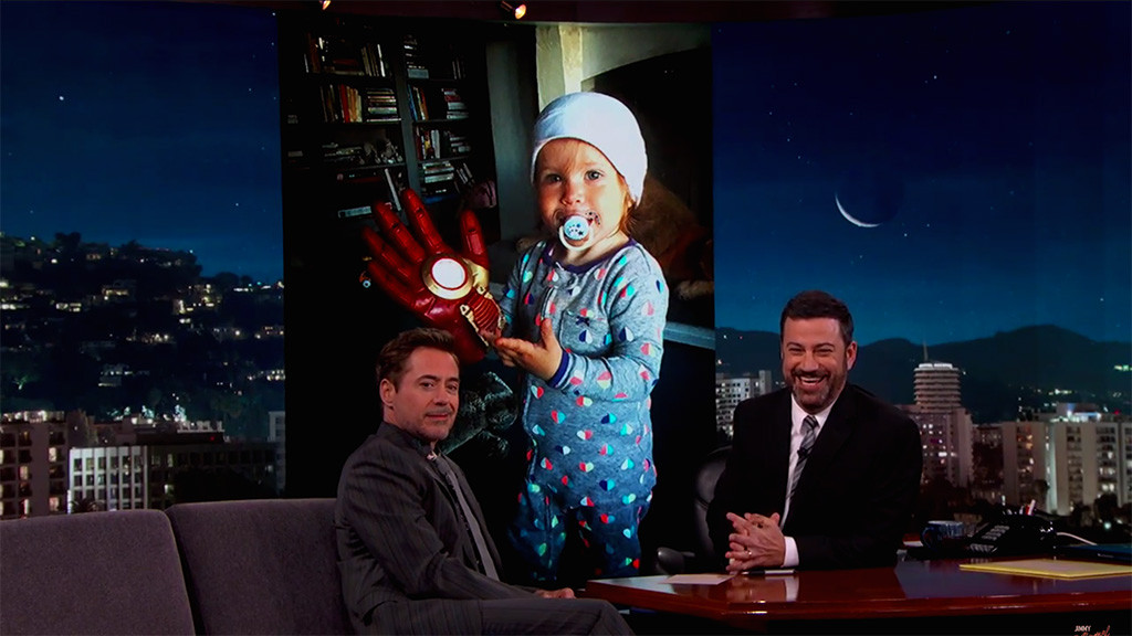 Robert Downey Jr., Avri, Jimmy Kimmel Live